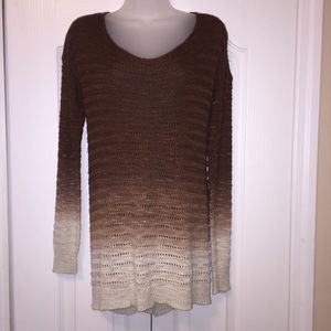 BKEred Open Back Sweater